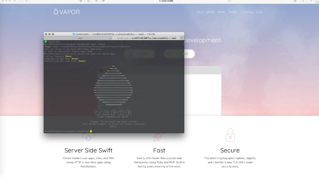 Getting Started con Vapor